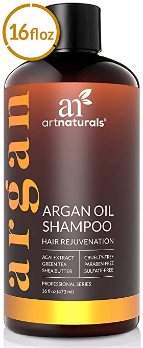 ArtNaturals Argan-Oil Shampoo for Hair-Regrowth - (16 Fl Oz / 473ml) - Sulfate Free - Treatment for Hair Loss, Thinning & Regrowth - Growth Product ...