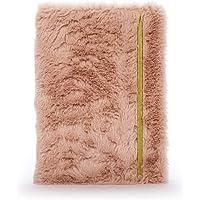 Tri-Coastal Design - Cuaderno de Tapa Dura Con Encuadernación En Espiral de Felpa Para Niñas (Blush)