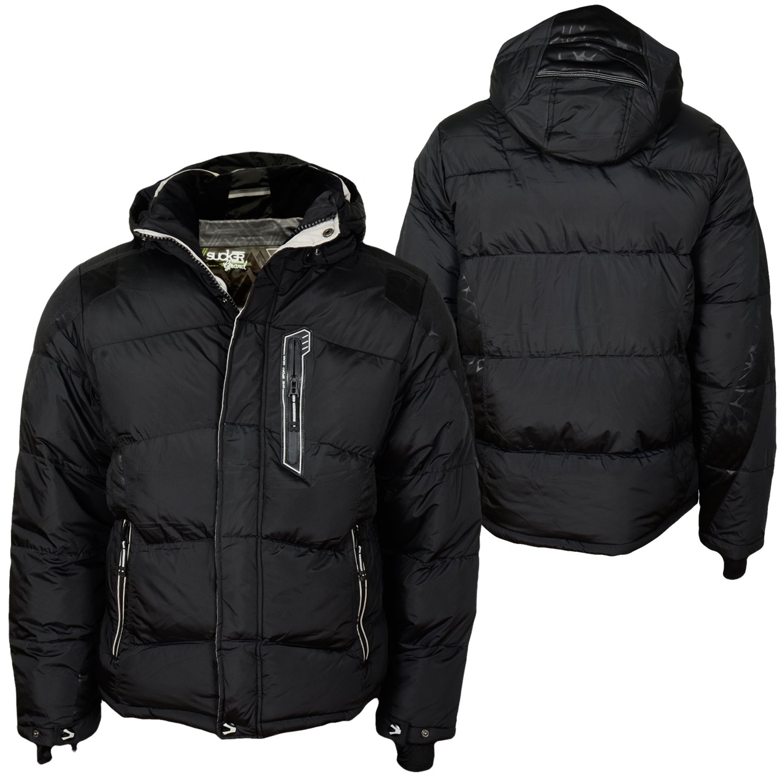 Sucker Grand Sports Dust Coat Winter Jacket Black