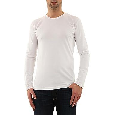 homme Armani rond blanc Shirt T hiver 2015 111023 col Fit Slim PFFZwx
