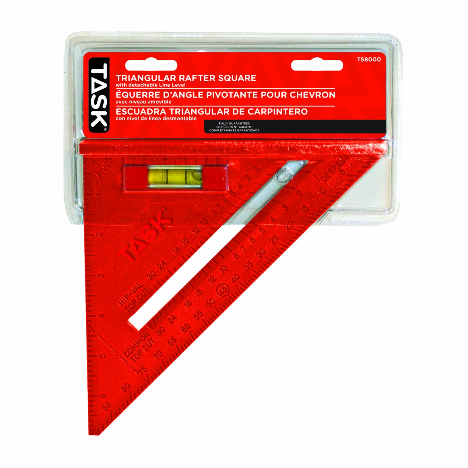Task Tools T58000 Poly Triangular Rafter Square with Vial
