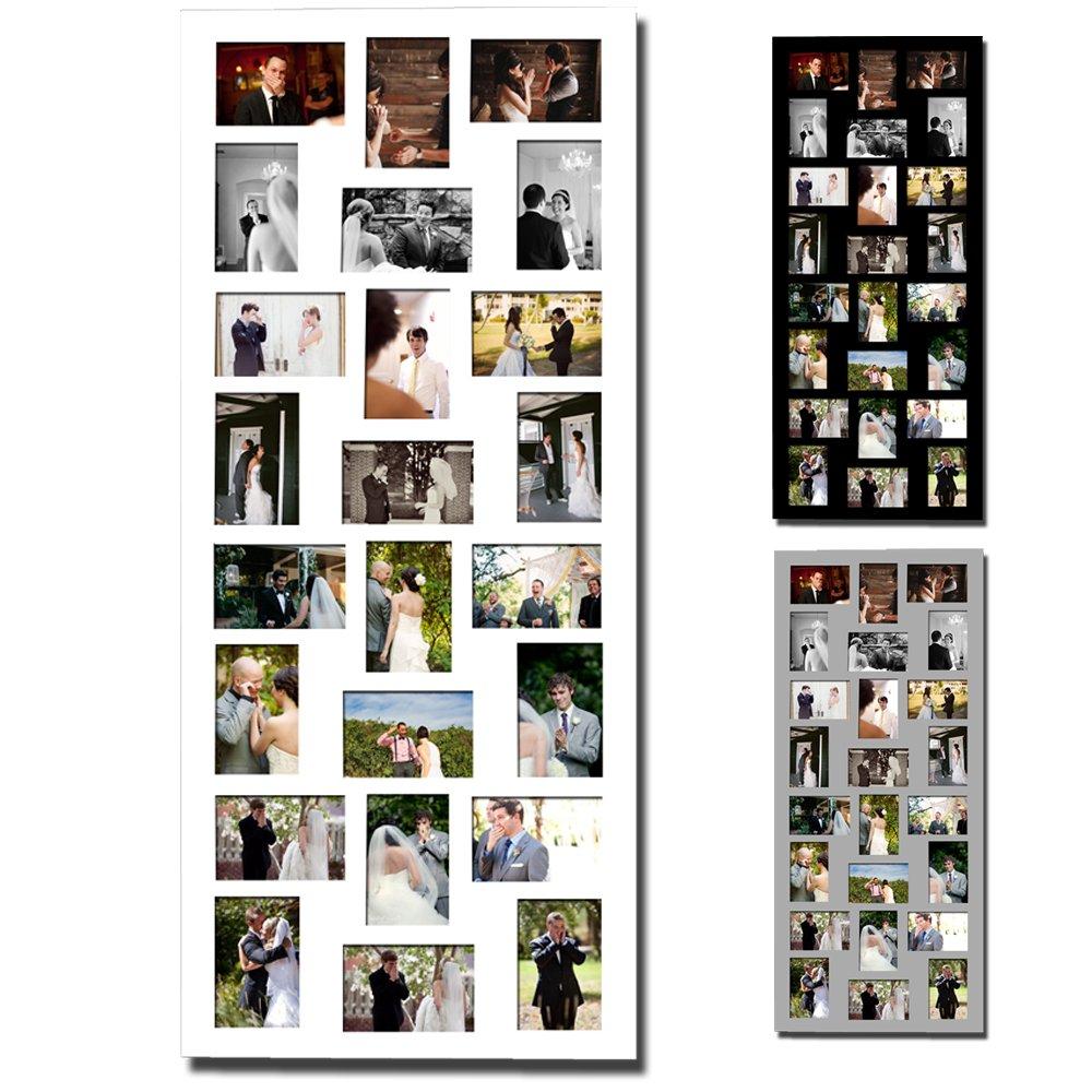 Amazon.de: EUGAD 24 Fotos Collage Bilderrahmen #17, Holz Rahmen, zum ...