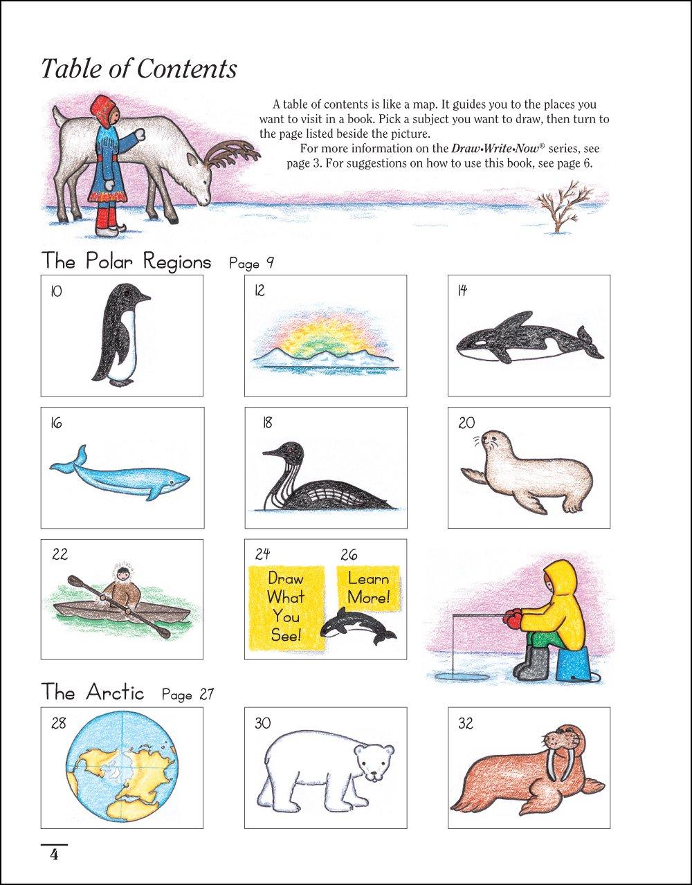 draw write now book 4 polar regions arctic antarctic marie
