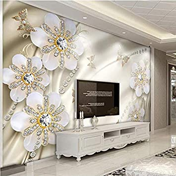 Jbekjg Chinese Style 3d Stereo Lotus Pond Mural Wallpaper 3d Living Room Tv Sofa Study Background Wall Stickers Self Adhesive Waterproof 200x130cm Amazon Com