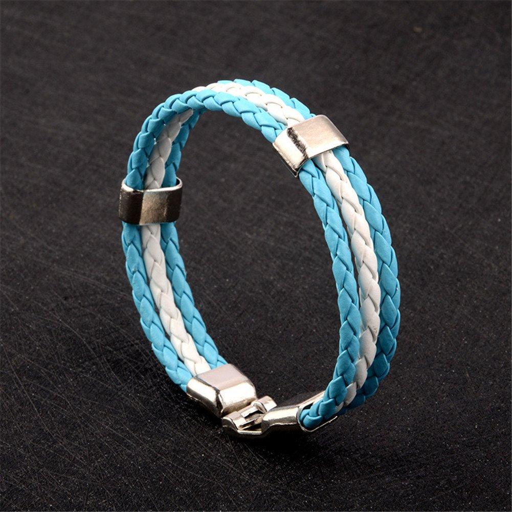 Su-luoyu 1 PC Bracelet Tiss/é Drapeau National Couleur Coupe du Monde Sportif D/écoration 22cm