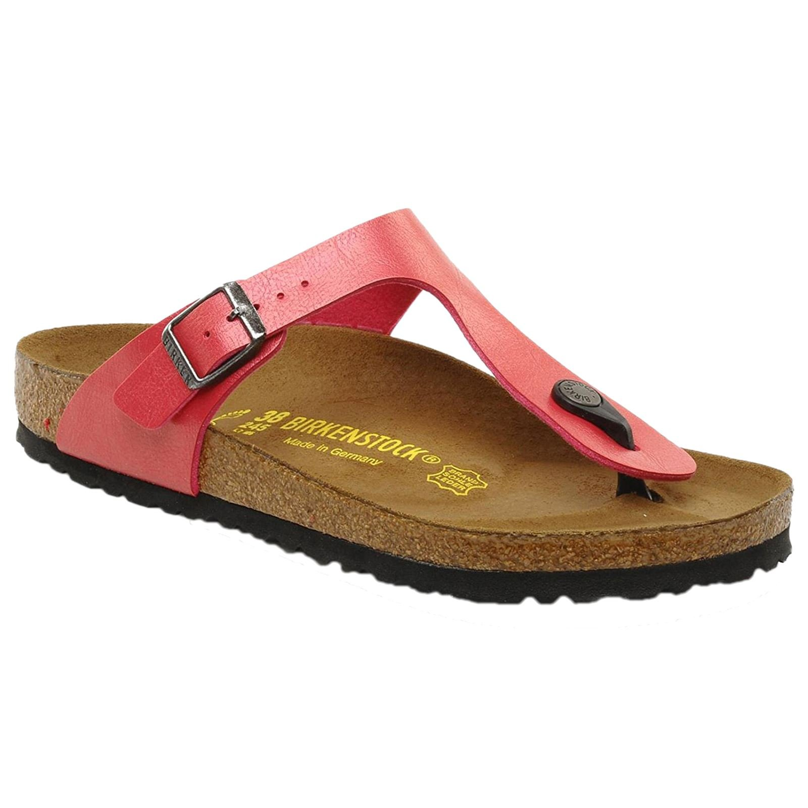 aae5d927bbf3 Galleon - Birkenstock Womens Gizeh Cherry Birko-Flor Sandals 40 EU