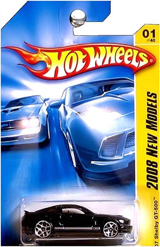 HOT WHEELS 2008 NEW MODELS /'07 SHELBY GT-500 #01//40 WHITE FACTORY SEALED