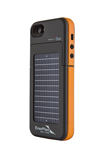sports shoes 561d2 e76ce EnerPlex Surfr Ultra Slim Battery Backup & Solar Powered Case for iPhone  SE/5/5S, Black/Orange, SFI-2000-OR