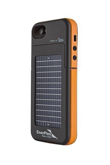 sports shoes 14674 0eff3 EnerPlex Surfr Ultra Slim Battery Backup & Solar Powered Case for iPhone  SE/5/5S, Black/Orange, SFI-2000-OR