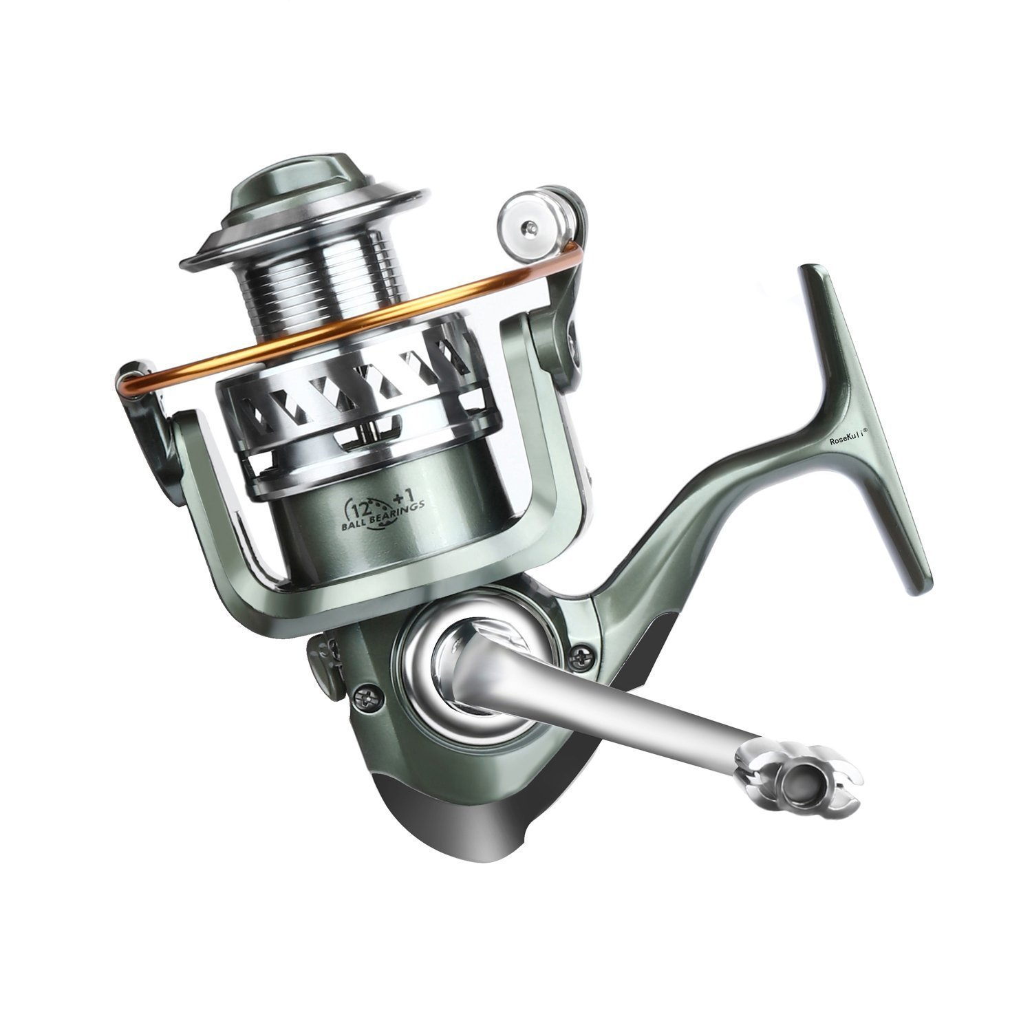 Rose Kuli Spinning Fishing Reel – Stainless Steel Saltwater 12 1 Ball Bearings Lightweight Smooth Left Right Interchangeable Baitcasting Reels