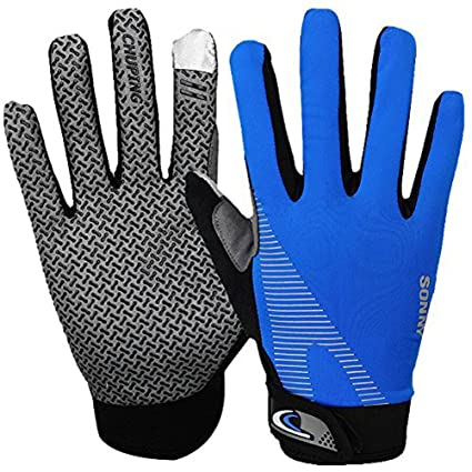 Amazon Com Summer Cooling Cycling Gloves Full Finger Touch Screen