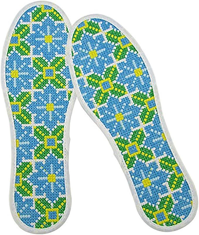 WSC Puro algodón de Punto de Cruz Plantillas, Nueva Desodorante, Las Plantillas de absorción de Sudor (Color : A, tamaño : 22.5cm): Amazon.es: Hogar