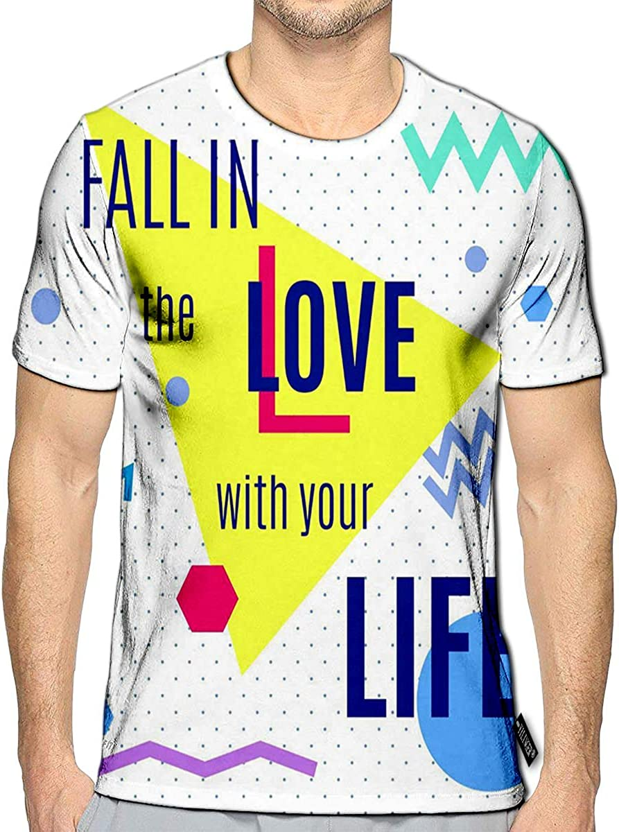 3D Printed T-Shirts Fun and Joy of Emotion Hippie Style Life Set Elements Short Sleeve Tops Tees 71rts7SKpYL