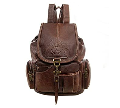 Amazon.com: Toping Fine Women Backpack Vintage Backpacks for Teenage Girls Fashion Large School Bags PU Leather Black Bag mochila XA658H black: Shoes