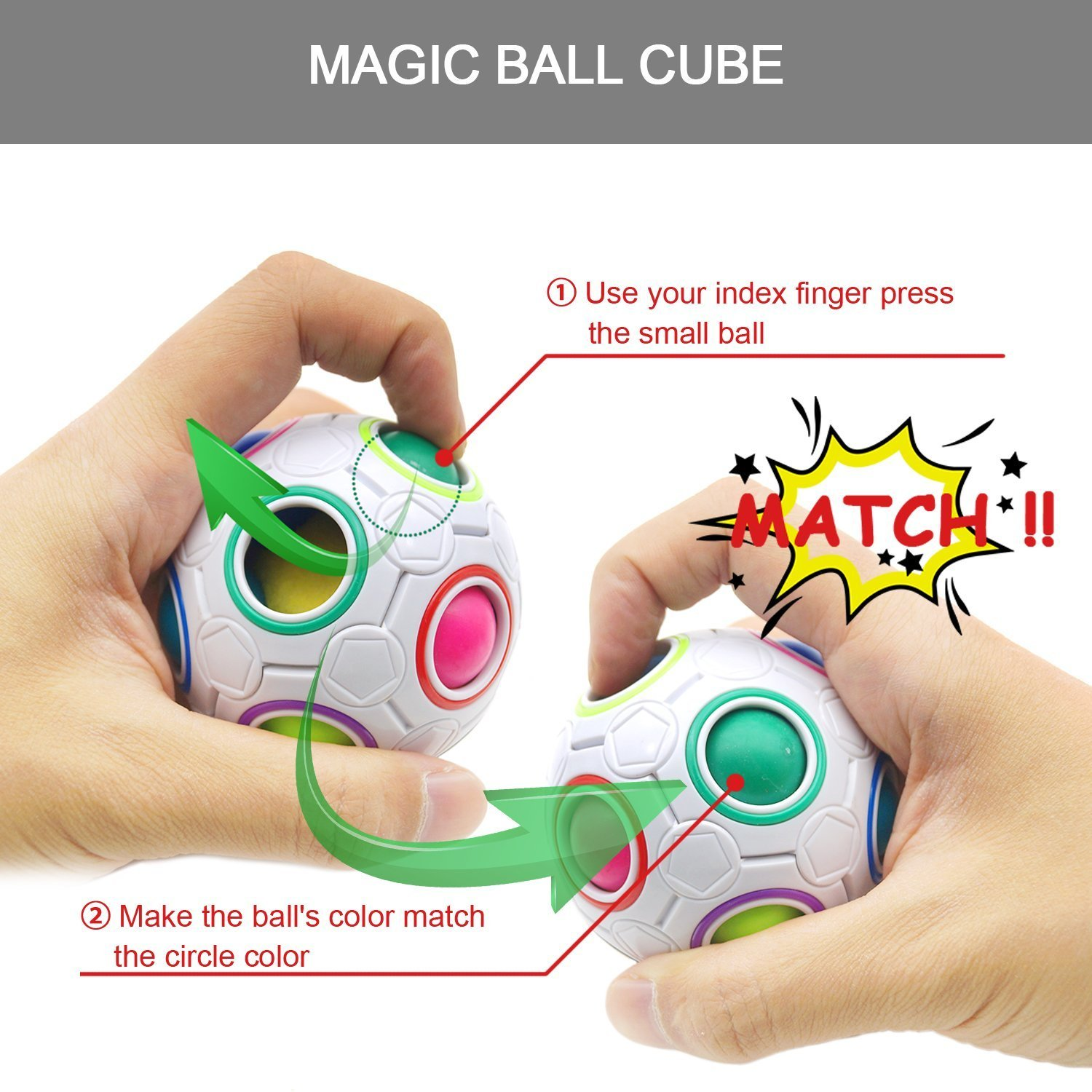 The Ultimate Sensory Fidget Toys Kit for Kids 20 Packs Fidget Cube/Infinity Cube/Squishy Ball/Squeeze Bean/Fidget Pen/Rainbow Magic Balls/Twisted Toy for ADD ADHD Stress Relax Prime by Sumine (Image #6)