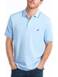 4e29c4c20 Nautica Mens Standard Classic Fit Short Sleeve Solid Soft Cotton Polo Shirt