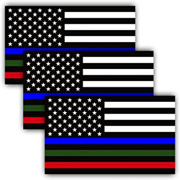 Thin blue line decal flag with BLUE//GREEN stripe police decal free shipping