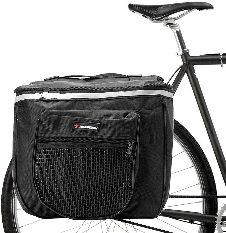 Sunshine smile Bolsas Bicicletas traseras,Bolsa Doble Bicicleta,alforjas Bicicleta Impermeable,Pannier Bag,alforjas Bicicleta montaña (Negro): Amazon.es: Deportes y aire libre
