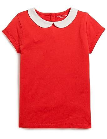 MONOPRIX KIDS Tee shirt à manches courtes et col claudine