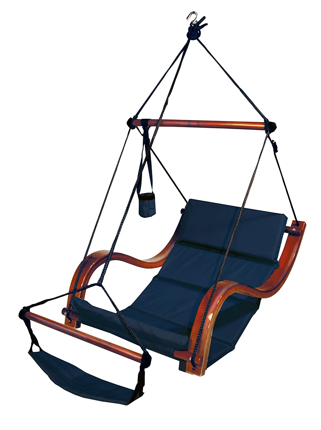 Amazon.com: Hammaka Nami Deluxe Hanging Hammock Lounger Chair In Blue:  Garden & Outdoor