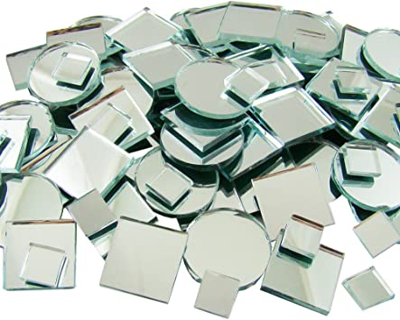 "100pcs Mini Mosaic Tiles Silver 3//8/"" stock in US"