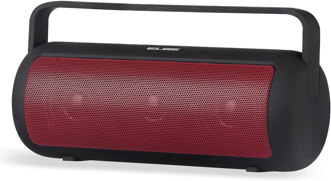 Elbe ALT-149-NR - Altavoz portátil (Bluetooth, 10 W, 4 Horas de reproducción) Color Negro y Rojo