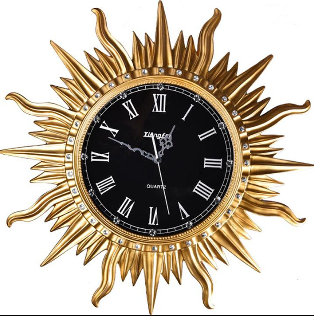 GRJH® 創造的なモダンシンプルなファッションの太陽の装飾樹脂の壁時計、リビングルーム創造的な時計のパーソナリティサイレント時計65x65cm クリエイティブファッションシンプル ( 色 : #1 ) B07CNCNB7W#1