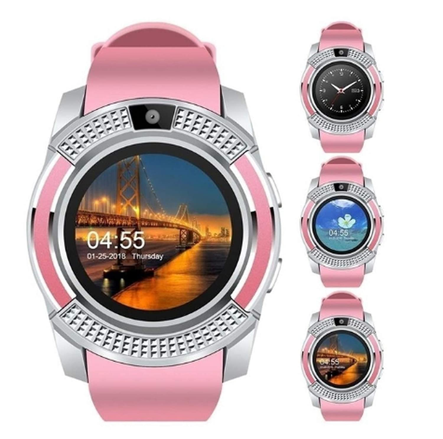 Amazon.com: Smart Watch V8 Bluetooth Android Watch Women SIM ...