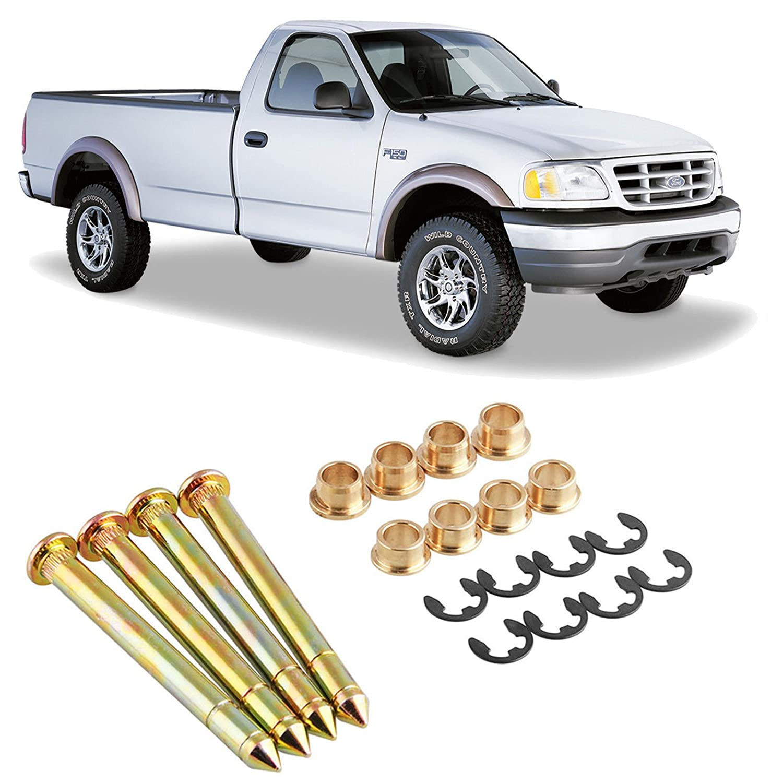 Heavy Duty Car Door Hinge Pins Pin Bushing Kit For Ford F150 F250 F350 Bronco