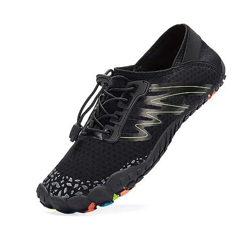 LeKuni Zapatillas Hombre Descalzo Zapatos Agua Zapatos Nadar Zapatos Zapatos de Playa Zapatos para Agua Zapatos de Deporte Secado rápido Anti-Deslizante: ...