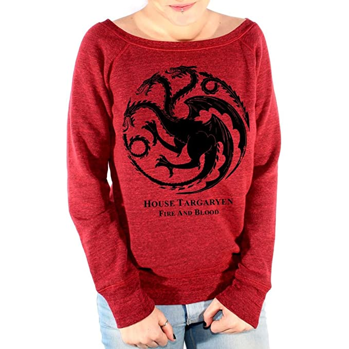 Felpa Fashion HOUSE TARGARYEN FEAR AND BLOOD GAME OF THRONES - FILM by Mush Dress Your Style - Donna-L-Rosso scuro Triblend