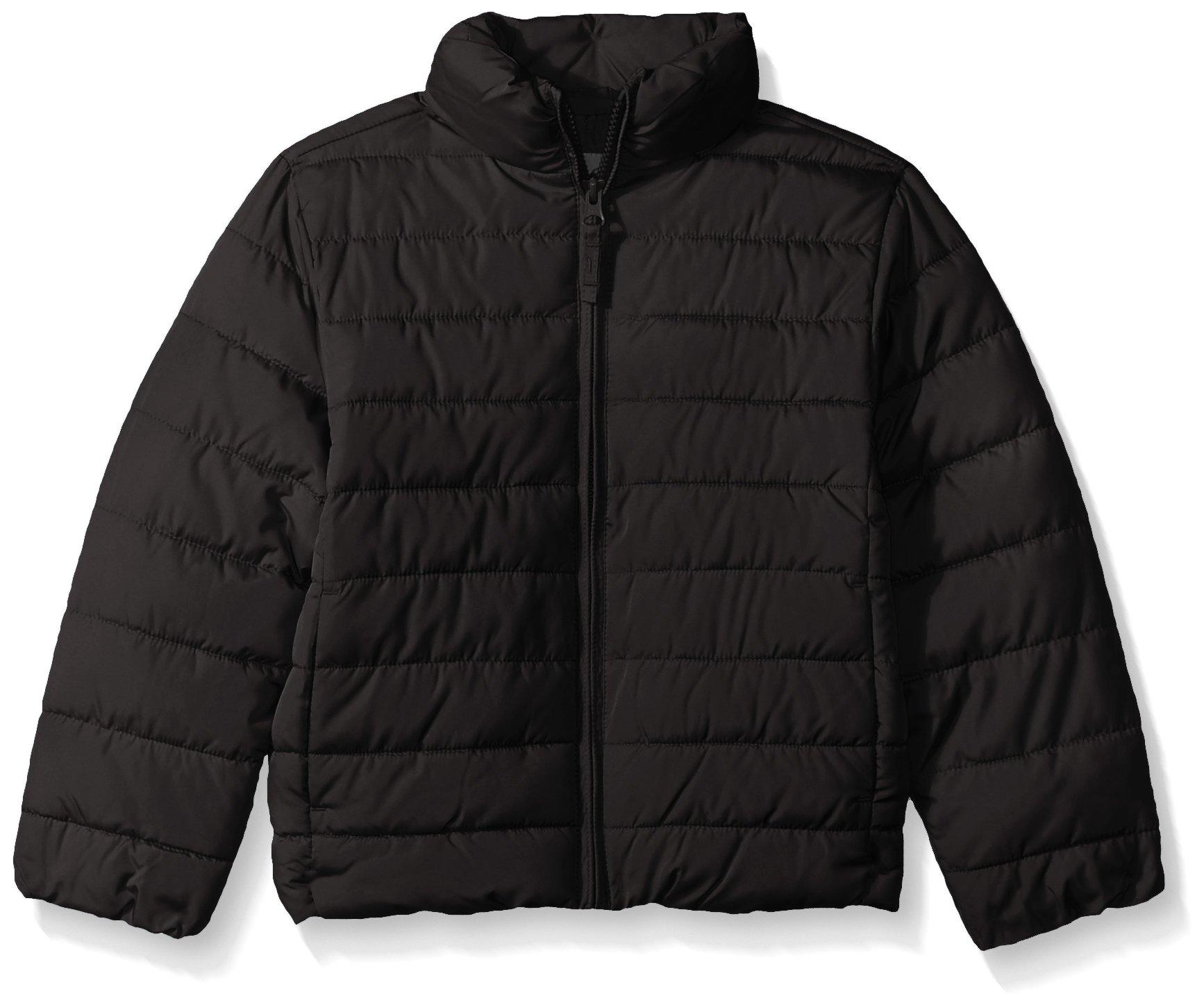 The Children's Place Little Girls' Her Puffer Jacket, Black, S (5/6)