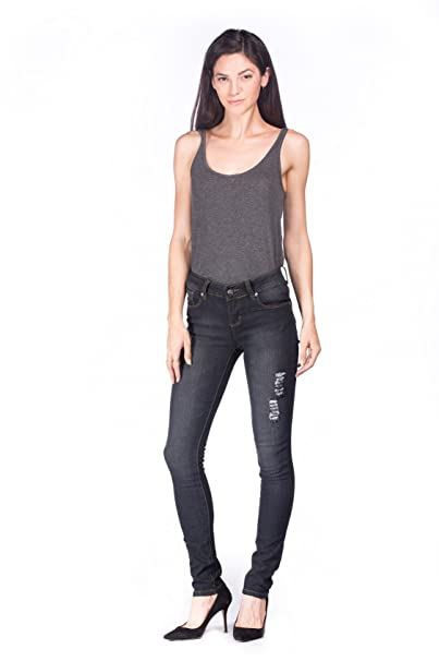 Amazon.com: Jeans Colonia Juniors de la mujer Washed Comfy ...