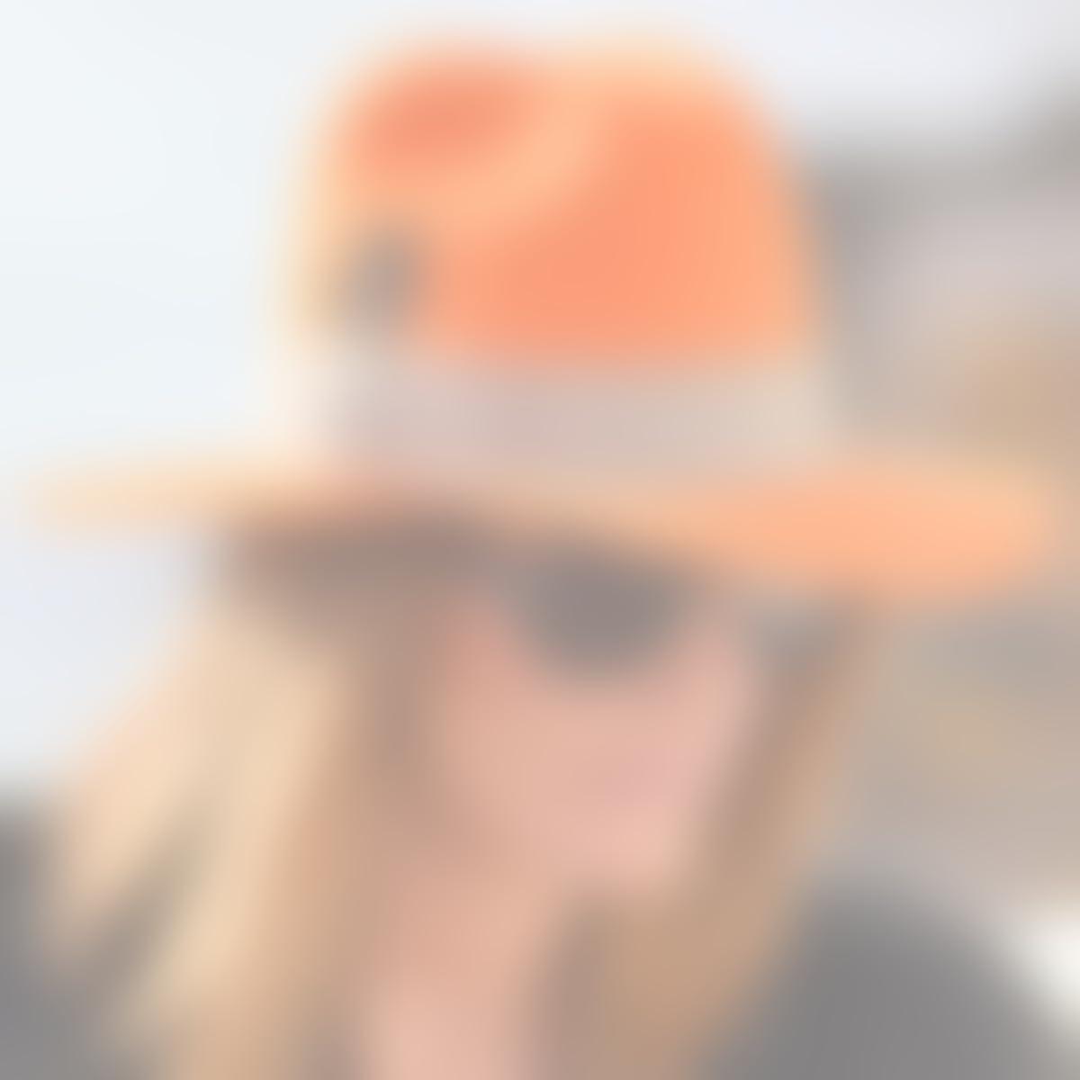 Amazon.com: RACEU ATELIER Orange Queen Hat - Wide Brim Fedora Hat - 100% Wool Felt - Fedoras & Trilby Hats - for Women: Handmade