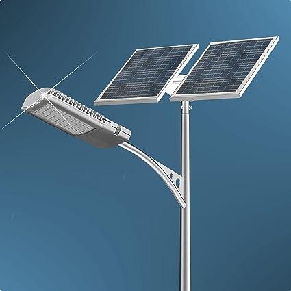 40 watt led solar street light system 2pcs 100 watts solar panel rh amazon com
