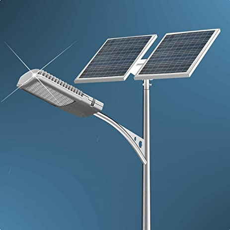 40 Watt LED Solar Street Light System :2pcs 100 Watts Solar Panel ...