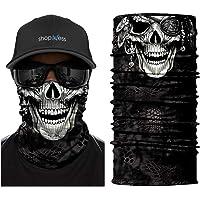 ShopINess Foulard Multifonction Bandeau - Crâne (5 Designs)