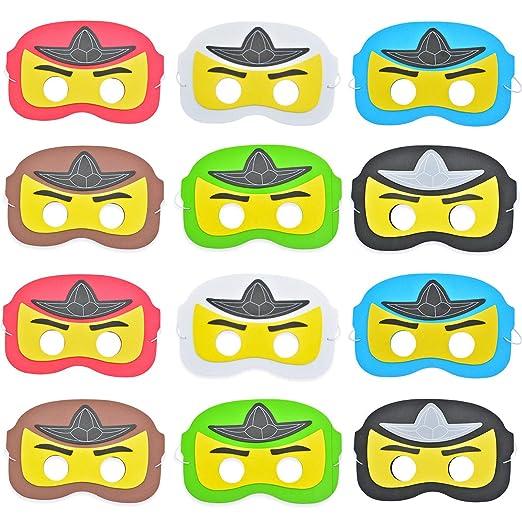 Máscara de ninja, dibujos animados de superhéroes disfrazan ...