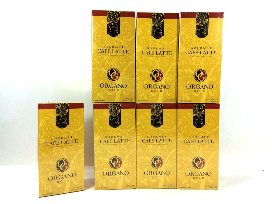 8 Boxes of Organo Gold Ganoderma -Gourmet Café Latte Coffee (20 sachets per box)