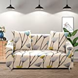 Lamberia Printed Sofa Cover Stretch Couch Cover Sofa Slipcovers for Couches and Loveseats with Two Free Pillow Case…