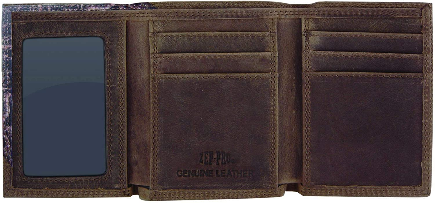 Camouflage NCAA Texas Tech Red Raiders Zep-Pro Leather Trifold Concho Wallet