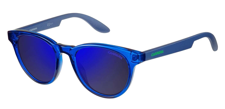 Carrera Junior CARRERINO 18 XT TDK Gafas de sol, Azul (Bluette/Blue Sky Grey Speckled), 46 Unisex-Niño