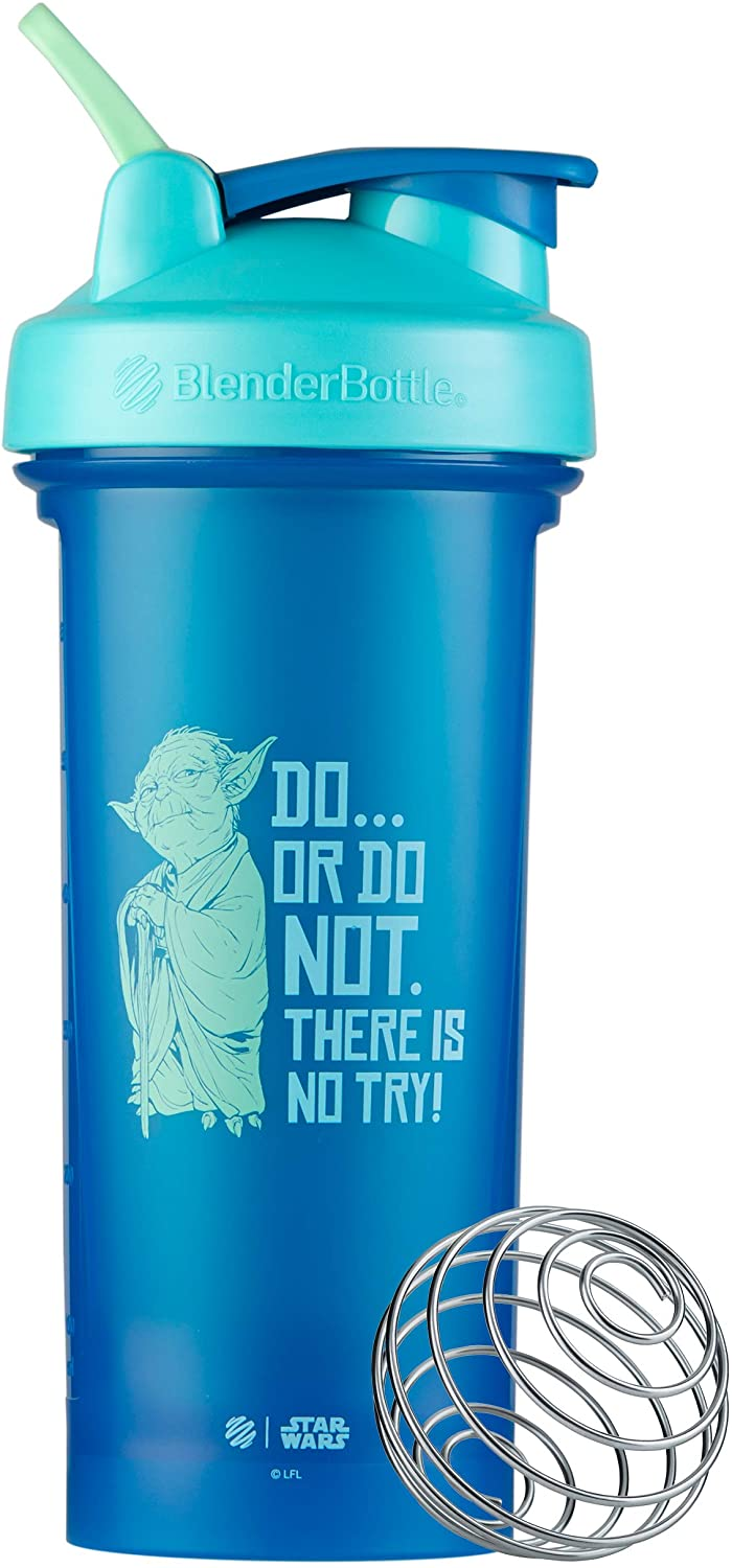 BlenderBottle Star Wars Classic V2 Shaker Bottle Perfect for Protein Shakes and Pre Workout, 28-Ounce, Do… Or Do Not. There Is No Try