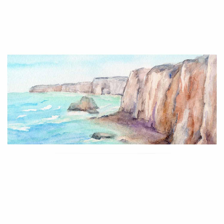 Kess InHouse Cyndi Steen Cliffs at Normandie Blue Travel Luxe Rectangle Panel 24 x 36