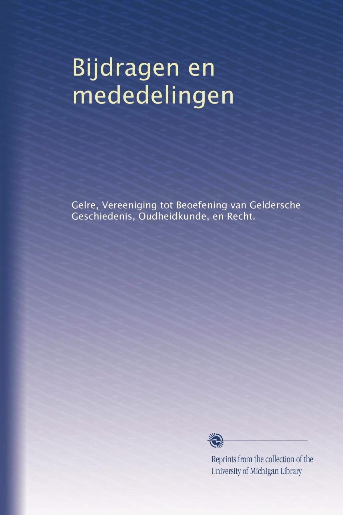 Bijdragen en mededelingen (Volume 5) (Dutch Edition) pdf epub