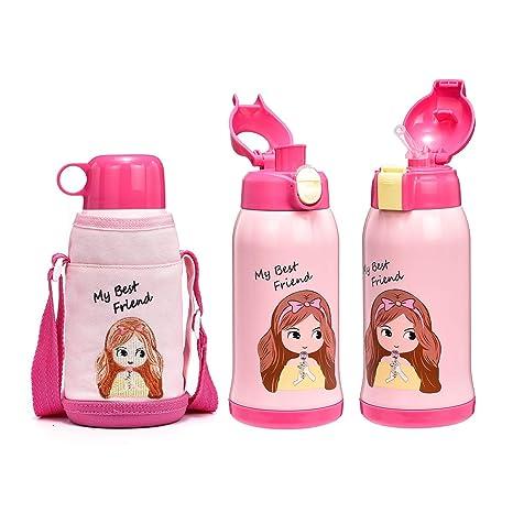 Amazon.com: Botella de agua térmica DILLER para niños, de ...