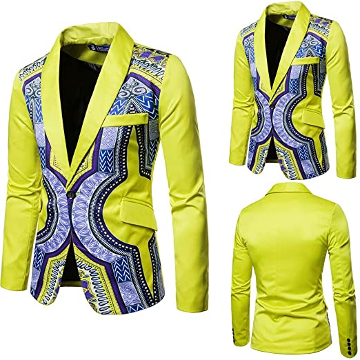 TOPUNDER New African Fashion Dashiki Cardigan Men Jacket Long Sleeve Printed Coat at Amazon Mens Clothing store: