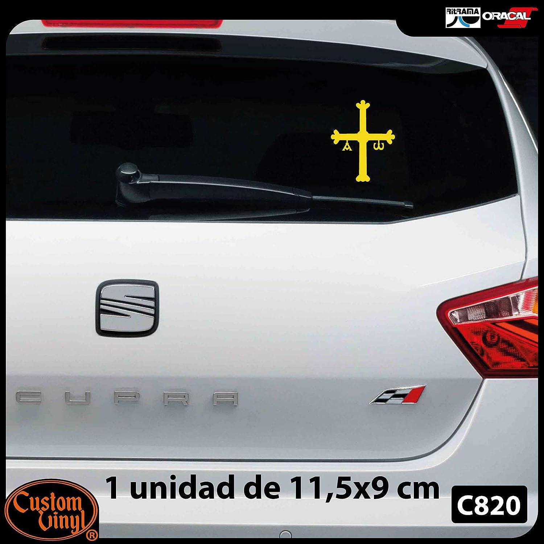 Custom Vinyl Pegatina de Vinilo Cruz de Asturias Peque/ña