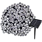 Yasolote Solar Garden Lights, Waterproof Fairy Lights, 72ft 20m 200 LED 8 Twinkling Modes, Decorative Outdoor Lighting String Lights for Gazebo, Patio, Lawn, Fence, Wedding Ornament (White, 1 Pack)