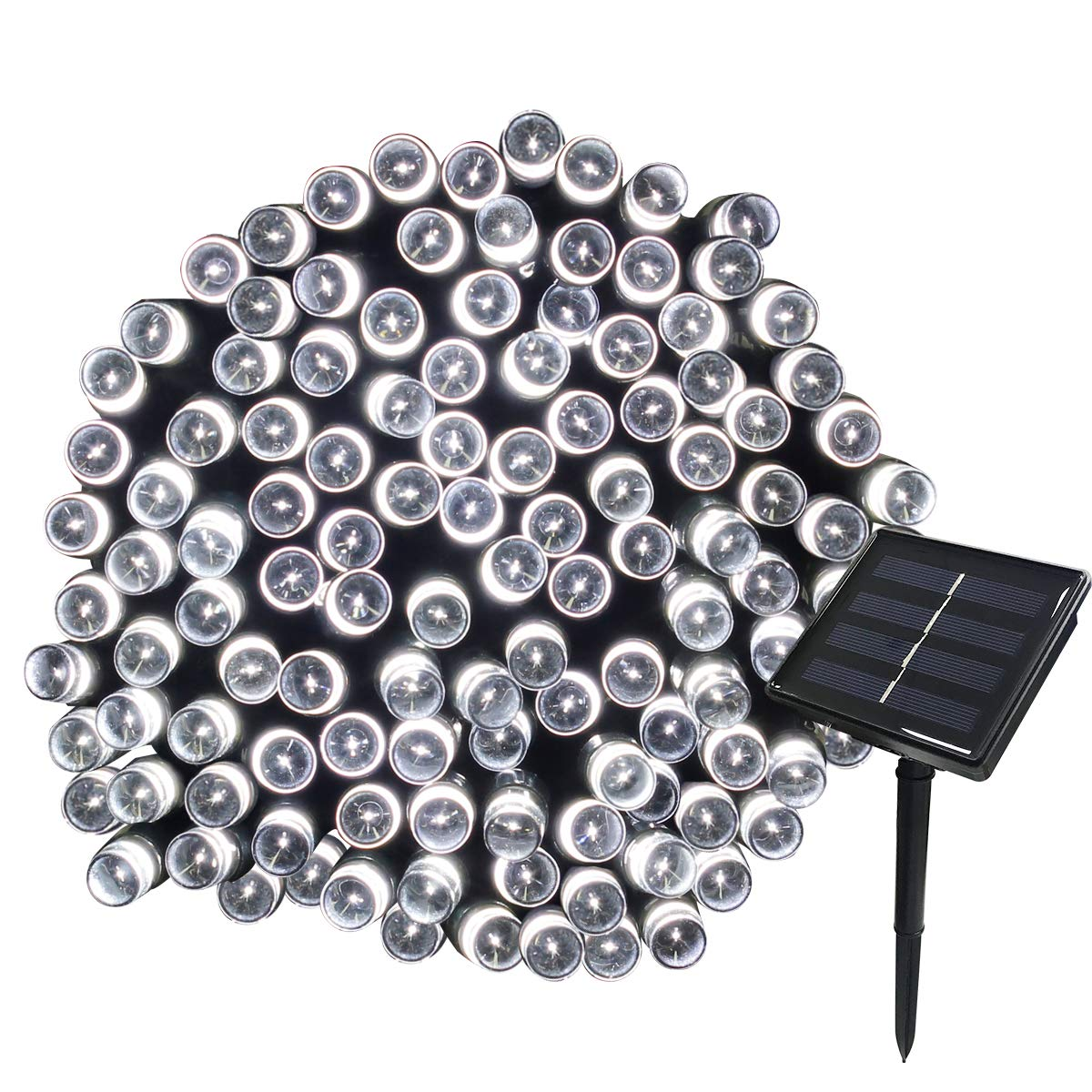 Yasolote 22M 200 LED Luci Giardino Energia Solare Luci da Esterno Luci Stringa da Energia Solare Illuminazione per Addobbi Natalizi Catene Luminosa Decorazione Natalizie Alebero di Natale Giardino Patio